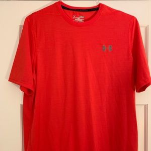 UNDER ARMOUR ORANGE/RED THREADBORNE SHIRT